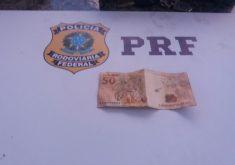 A estudante tentou subornar policial com R$ 50. (Foto: Divulgação)