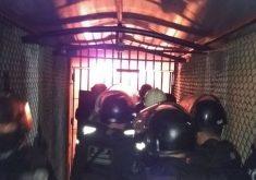 Os detentos atearam fogo na unidade (FOTO: Reprodução/Whatsapp)