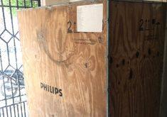 Mamógrafo estava embalado em depósito desde 2010. (Foto: Divulgação/MPCE)