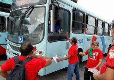 Um dos pontos de atividade foi no terminal do Siqueira (FOTO: Reprodução/Facebook)