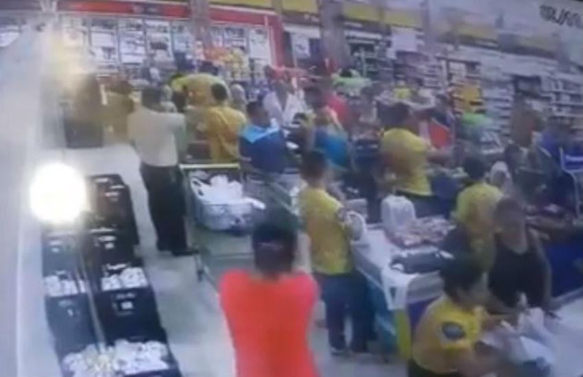 Empacotador é morto a tiros dentro de supermercado em Maranguape. Veja vídeo