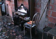 A casa ficou destruída (FOTO: Reprodução/TV Jangadeiro)