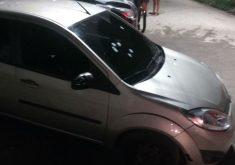 O motorista tinha ido deixar um passageiro (FOTO: Reprodução/Whatsapp)