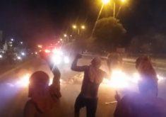 Protesto iniciou na noite desta segunda-feira (FOTO: Reprodução/TV Jangadeiro)