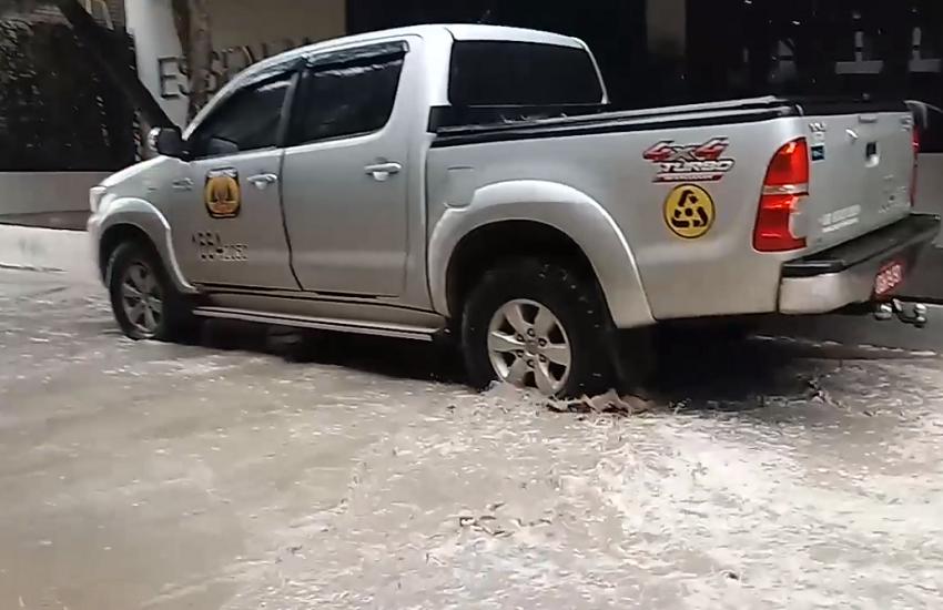 Forte chuva inunda vila de Jericoacoara e município de Morada Nova