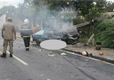 O acidente aconteceu em Juazeiro do Norte (FOTO: Reprodução/Whatsapp)