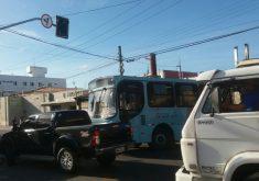 Engarrafamento no trânsito em Fortaleza por causa do apagão.