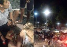 Vídeos e fotos que circulam em redes sociais e aplicativos de mensagens, mostram o cenário de desespero após os disparos.