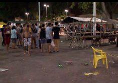 Chacina no Benfica começou por volta das 23h30min da sexta-feira. (Foto: Reprodução/TV Jangadeiro)