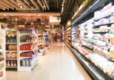 corredor de um supermercado