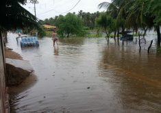 Icapuí tem a maior chuva do ano no Ceará até agora. (Foto: Reprodução/Notícias Icapuí 24H)