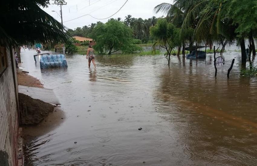 Chuva que alagou Icapuí foi a 4ª maior em meio século no Ceará