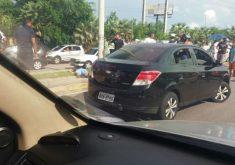 O crime aconteceu na movimentada avenida (FOTO: Reprodução/Whatsapp)