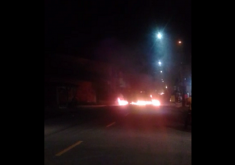protesto, fogo
