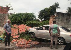 Cecília levou um tiro na cabeça e colidiu carro em muro. (Foto: Reprodução/Whatsapp)
