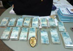 Dinheiro foi roubado em espécie e recuperado parcialmente. (Foto: Divulgação/ Polícia Civil do Crato)
