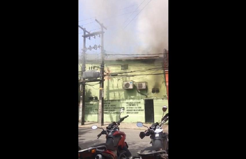 Incêndio atinge escola no Meireles e assusta alunos e funcionários