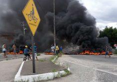 Rodovias seguem bloqueadas no Ceará (FOTO: Reprodução/Whatsapp)
