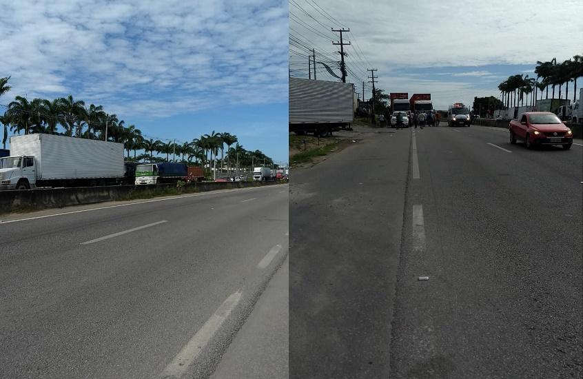 Caminhoneiros bloqueiam BR-116 em 3º dia de protestos contra escalada de preço do combustível