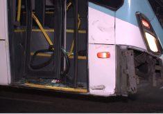 Acidente ônibus e motocicleta