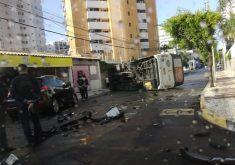Acidente foi registrado na manhã deste sábado (FOTO: Reprodução/Whatsapp)
