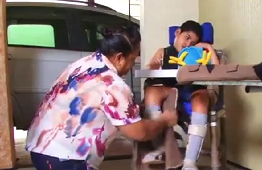 UFC oferece de graça equipamentos de PVC para ajudar crianças com mobilidade reduzida