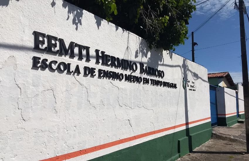 Estudante leva tiro de raspão na cabeça dentro de escola em Fortaleza