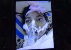 Vitoria Kessia, menina, hospital