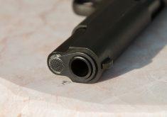 Arma em referência a Tiroteio durante o jogo do Brasil deixa duas pessoas feridas no bairro Lagamar