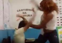 """Agressão em referência a """"Ela começou a bater no menino no portão de entrada"""", afirma mãe de criança agredida em escola na zona rural de Itapipoca"""