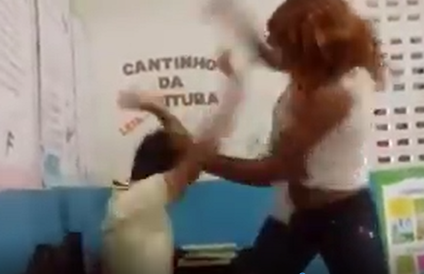 Adolescente agride criança em escola da zona rural de Itapipoca; vídeo registra o momento