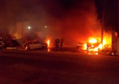 Incêndio contra veículos no 20º DP