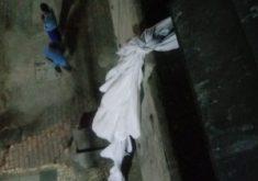 Jefferson Rodrigues de Mesquita conseguiu descer do 2º andar (FOTO: Reprodução Whatsapp)