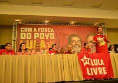 Camilo Santana declarou apoio a Lula no encontro. (Foto: Divulgação/PT)