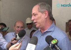 """Ciro Gomes em referência a """"Voto no Cid e vou escolher o outro candidato"""", diz Ciro, reforçando hostilidade a Eunício"""
