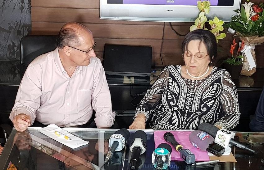 Geraldo Alckmin tem encontro com Maria da Penha e defende propostas contra feminicídio no Ceará