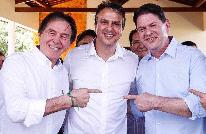 """PSDB denuncia Eunício por uso da imagem de Camilo e Cid e por se dizer """"senador do Lula"""""""
