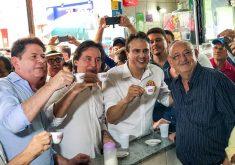 Camilo, Cid e Eunício são aliados em campanha informal nas eleições 2018. (Foto: Divulgação)