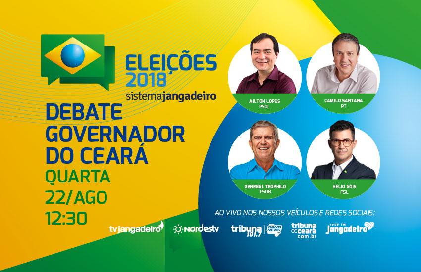 Candidatos apostam em exposição de propostas no primeiro debate para governador do Ceará