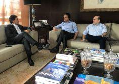 Eunício, Camilo e Roberto Cláudio se reaproximaram quando o senador assumiu a presidência do Congresso Nacional. (Foto: Governo do Ceará)