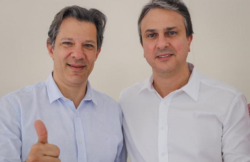No Ceará, Fernando Haddad minimiza apoio de Camilo Santana a Ciro Gomes