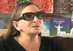 Maria de Lurdes já recebeu medalha da Academia Cearense de Letras (FOTO: Reprodução TV Jangadeiro/SBT)