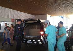 Movimentação de policiais no IJF na manhã deste sábado. (Foto: Rita Brito / Nordestv)