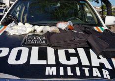 Polícia fez apreensões durante operação no Lagamar. (Foto: Dorian Girão / TV Jangadeiro)