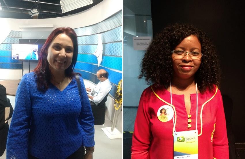 Duas candidatas a vice acompanharam de perto o debate no Sistema Jangadeiro