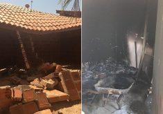 O imóvel alugado teve a casa preservada; o ataque se restringiu às instalações do abrigo (Foto: Divulgação)