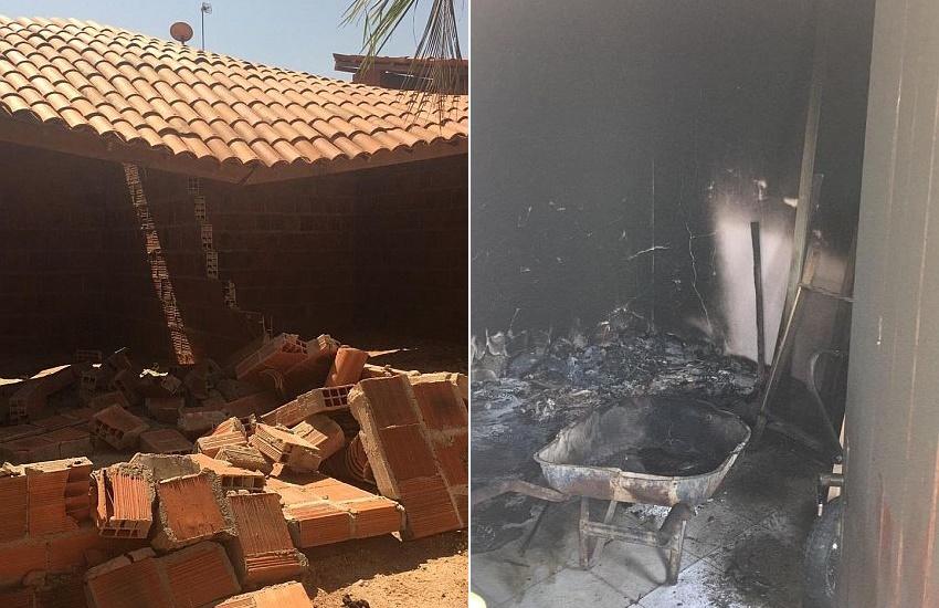 Futura sede de abrigo de animais no Eusébio é destruída em atentado às instalações