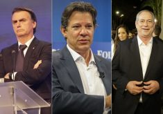 Bolsonaro segue na liderança; Haddad e Ciro estão empatados na margem de erro. (Foto: Reprodução)