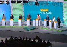 Bolsonaro e Cabo Daciolo não participaram de debate na TV Aparecida. (Foto: Reprodução)