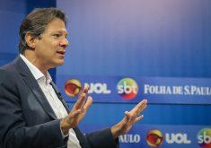 Fernando Haddad, pela pesquisa, iria para o 2° turno com Bolsonaro. (Foto: Ricardo Stuckert)